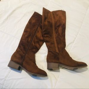 NWT! Faux Seude Riding Boots